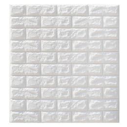 DIY auto adesivas parede de tijolo 3d adesivos Sala Decor espuma impermeável revestimento de paredes 77 * 70 centímetros 3D tijolo Wallpaper de Fornecedores de painéis de parede 3d por atacado