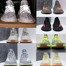 (recibo + bolsa + caja + etiqueta X original) kanye west 350 estática v2 zapatos reflectantes 350 v2 zapatillas de deporte zapatos de diseño para hombre zapato de hombre zapatillas de deporte mujer bota desde fabricantes