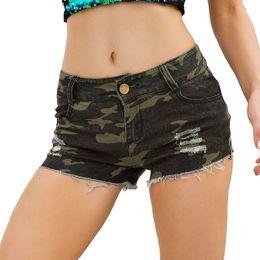 2019 baixa cintura jeans apertado Curto sexy Mas Não Apertado Alta Qualidade Jeans Camuflagem Das Mulheres Denim Cintura Baixa Super Mini Calças Jeans baixa cintura jeans apertado barato