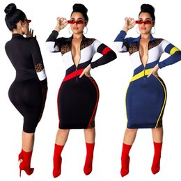 d46c8057273 Rabatt Beiläufiges Kleid Reißverschluss Vorne