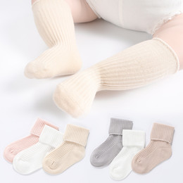 90ee5a2c5b2 3 pairs Children s Socks Knee-High Spring and Summer Children s Tube Socks  Solid Color Infant Baby Boys and Girls Cotton Knee-socks