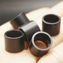 dica de gotejamento de grande diâmetro Desconto New Black POM Drip Tip Vaporizador Atomizador Wide Bore Bocal Titular Boca Para Vape TFV16 Tanque de Alta Qualidade Bolo Quente