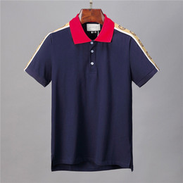 2019 polo di polka del polo degli uomini Hot coccodrillo Polo di alta qualità della camicia degli uomini del progettista Solid pantaloncini in cotone polo estive polo Homme T-shirt Mens Polo Camicie Poloshirt