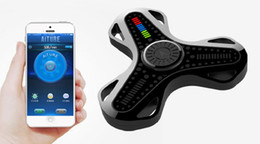 Canada Fidget Spinner Application mobile Smart Control Bluetooth Synchrone Doigt Spinner LED Magic Fingertip Gyro Décompression Jouet Intelligent Santé Offre