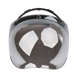 Visor de bolha de moto on-line-Flip Up 3-Snap Vintage Durável Windshield Motocicleta UV Lente Bolha Viseiras Wind Shield Capacete Visor Retro Windscreen