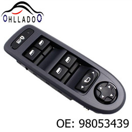 interruptor para ventana de energía Rebajas HLLADO Black New Electric Master Window Switch 98053439 para Peugeot 308 2008-2013 Power Window Switch 98053439 Accesorios para coche