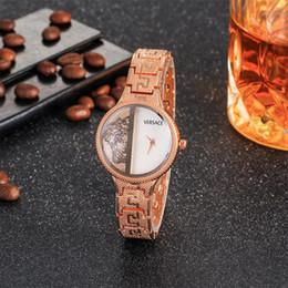 2019 bracelet en diamant de champagne 2019 diamant or japon move quartz rouge femmes montre-bracelet + 4 couleurs livraison gratuite célèbre mode vogue montre en or rose bracelet en diamant de champagne pas cher