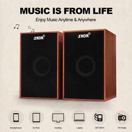 sons do telefone mp3 Desconto Alto-falantes de computador AUX 3.5mm USB Speaker Com Fio Super Bass De Madeira PC Speakers Mini Caixa de Som Para Laptop Desktop Telefone Inteligente MP3