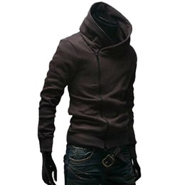 толстовки с наклонными застежками Скидка Наклонная молния с капюшоном толстовка флисовая куртка пальто спортивный костюм повседневная мода Мужская одежда NGD88