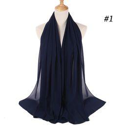 2019 chiffon hijab schals Frauen Plain Bubble Chiffon Schal Hijab Wrap Printe Solid Color Schals Stirnband Muslim Hijabs Schals / Schal 49 Farben günstig chiffon hijab schals