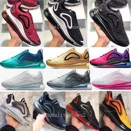nuevo estilo zapatos corrientes Rebajas Nike Air Max 720 Basic Leather Casual Shoes Hombres de moda baratos Negro Blanco Rojo Golden Skateboarding Sneakers Tamaño 40-44