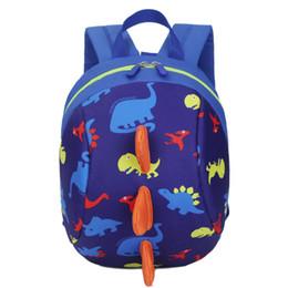 mochilas al por mayor para niños pequeños Rebajas 2017 fresco y único Baby Boys Kids Dinosaur Patrón Animales Mochila Toddler School Bag wholesale A2000 # 43140