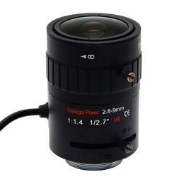 2019 cs box 5megapixel Starlight F1,4 DC AUTO IRIS CS-Mount Gleitsicht CCTV-Objektiv 1 / 2,7-Zoll-2.8-9mm Für Starlight / 5MP-Box-Kamera