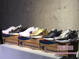 33d2ad2743819 2019 Champion 93Eighteen Suede Leather Couple Women Mens Designer Fashion  Sports Sneakers Clunky Old Dad Trainers Casual Shoes Chaussures hockey dad  for ...