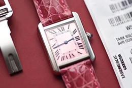 Reloj de lujo de calidad superior K11 de fábrica 24mm * 31mm y 27mm * 34mm súper clon Original correa de cocodrilo mujeres relojes reloj tanque desde fabricantes