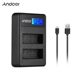 Bateria sony np on-line-Carregador Andoer LCD2- Compact Dual Channel LCD Camera Carregador de Bateria para Canon LP-E10 / LP-E12 / LP-E17 / Sony NP-FZ100 Camera Battery