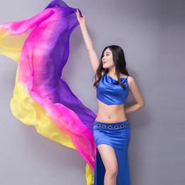 Deutschland 2019 Seidenschleier Bauchtanzschleier 100% Echtseidenschal Farbverlauf Krawatten Seidenschal Bollywood Kostüm für Damen Versorgung