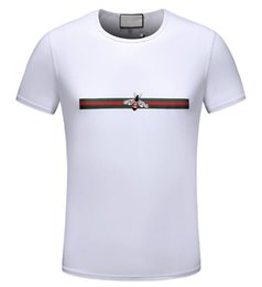 Nuovi piccoli modelli online-Nuovo arrivo modelli esplosivi estate, uomini a maniche corte, girocollo, t-shirt casual in cotone piccola ape mens magliette 00140