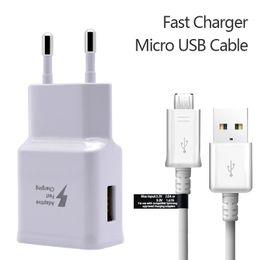 2019 enchufe uk principal A +++ 9V1.67A 5V 2A Juegos de adaptadores de cargador de pared para el hogar Cargador rápido Cargador rápido 2 en 1 EU Adaptador de enchufe de EE. UU. + Cable USB 2.0 Cable de sincronización de datos