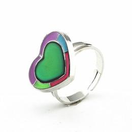 Сердце настроение кольцо онлайн-светящееся сердце изменение цвета настроение кольцо эмоции чувство переменчивый кольцо контроль температуры цвет черепаха кольца для женщин