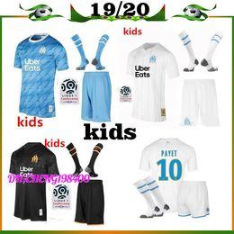 2019 chaqueta de ozil 19 20 Olympique de Marseille Kids Kit Camiseta de fútbol 2019 2020 niño OM Marseille Maillot De Foot PAYET L.GUSTAVO THAUVIN camisetas de fútbol