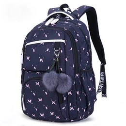 pink bags for flower girl Coupons - MoneRffi 2019 Children School Backpacks Girls School Bags Large Capacity Flower Printing Backpack Bag For Kids Mochila Feminina