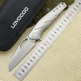 LOVOCOO APOLOGIST rabattable couteau S35VN lame titane poignée camping couteau de poche couteau tactique de survie en plein air outils EDC ? partir de fabricateur