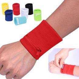 mp3 браслет Скидка Zipper Wrist Wallet Pouch Running Sports Arm Band Bag For MP3 Key Card Storage Bag Case Badminton Basketball Wristband Sweatband