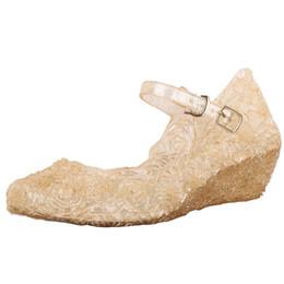 Scarpe da bambina di cristallo Scarpe da principessa Scarpe da donna Sandali singoli Zapatos De Cristal Para Ninas Zapatos De Princesa da tacchi colorati fornitori