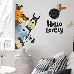 стикеры для писем с животными Скидка Смазливая мультфильм животных письма DIY съемный стикер стены