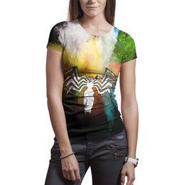 Ms design impression Venom logo Splashing ink blanc t shirt design personnalisé cool designer amis chemises slogan t shirt mode néon mu ? partir de fabricateur