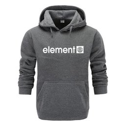 2019 element hoodies Neue 2018 Herbst Winter Marke Sweatshirts Männer Hohe Qualität Element Brief Druck Langarm Mode Mens Hoodies C19041901 rabatt element hoodies