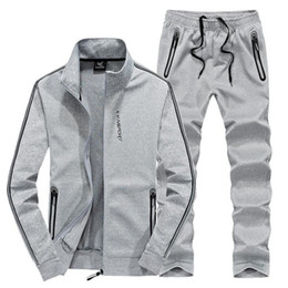 cool sportswear clothing Coupons - Tang cool 2019 Men New brand Fashion Sporting Suit Jacket+Pant Sportswear Two Piece Set Tracksuit For Clothes Plus Size L-8XL