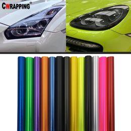 2019 gtr adesivos 40 * 150 cm Farol Do Carro Lanterna Traseira Fumaça Luz de Nevoeiro Matiz DIY Filme Envoltório de Vinil Adesivo Multicolors Decoração Decalques Car Styling