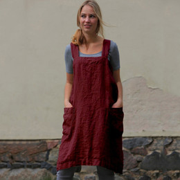 aa6c843608c Women Cotton Linen Dress Pinafore Garden Work Fashion Solid Color Dresses  plus size dresses