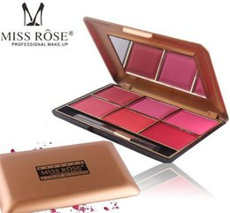 Argentina Mejor venta Nueva marca MISS ROSE Blush 6 colores blush palette face blusher en polvo con 4 cosméticos de estilo con caja de embalaje al por menor Drop Suministro