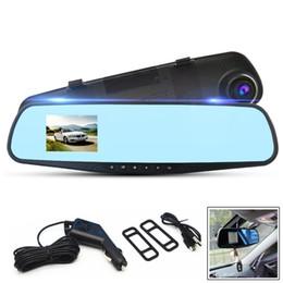 2019 vídeos chineses Carro dvr 720 P 2.8 Polegada Deifinition Alta Traço Câmera Câmera de Vídeo Do Veículo Anti-reflexo Azul Espelho Monitor DVR Registrador Recordcam Dashcam