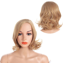 12-zoll-perücke lockig Rabatt Kunsthaar Perücke blond kurze lockige hitzebeständige Haar Perücken für Frauen Party Perücken 12 Zoll
