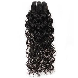 Extensions de cheveux brésiliens vierges bruts de cheveux vierges indiens remy tisse 3 faisceaux avec fermetures vendeur vague d'eau noir 8a de grade 8-28 pouces ? partir de fabricateur