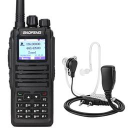 Micro-casques radio en Ligne-BAOFENG DM-XS DM-1701 Talkie-walkie numérique Double créneau horaire DMR Tier12 Portable Jambon Radio bidirectionnelle + Casque