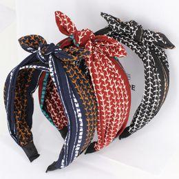 Клетчатая сатиновая ткань онлайн-Haimeikang Дамы плед печатных сатин Ткань Hairbands корейских волос украшения Сладкие девушки Уши трихонодоз луки оголовьем