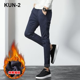Winter Trousers Corduroy Men Plus Thick Velvet Loose Warm Fleece Pants Straight