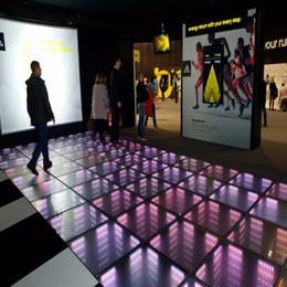 2019 paneles de suelo led Nuevo espejo 3D Led Control Dance Floor Light Control RGB Efecto de escenario Efecto Stage Stage Panel Panel Lights Disco DJ Party Lights Decoración de boda