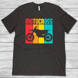 funny motorcycles Coupons - Motocross Shirt Dirt Bike T-Shirt Motocross Gifts Motorcycle Shirt Racer Retro Style 2019 New Men Funny Fashion