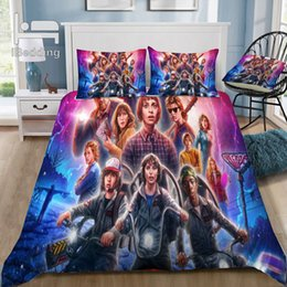green queen size bedding Promo Codes - Hot Sale Stranger-Things 3D Bedding Set Printed Duvet Cover Set Twin Full Queen King Size Dropshipping