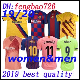 74a8b8eec 10 Messi top Barcelona 19 20 Soccer Jersey 2019 2020 Men Women Iniesta 9  Suárez 26 MALCOM 11 Dembele Coutinho Football uniforms shirts