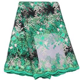 Deutschland Stickerei Design afrikanische Guipure-Spitze Stoffe grün hochwertige Nigeria Hochzeitskleid Französisch Net Mesh Stoff GD384B-3 Versorgung
