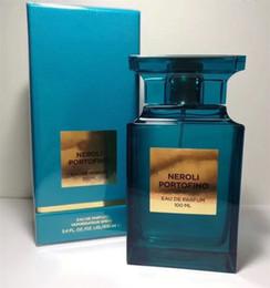 Projetar, perfume, garrafa on-line-ALTA QUALIDADE Mais Novo Design Atraente fragrância garrafa azul 100 ml perfume agradável cheiro muito tempo spray frete grátis.
