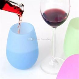 funghi utilizza Sconti Unbreakable gomma trasparente vetro di birra in silicone bicchiere di vino in silicone bicchieri da vino vino nuovo design di moda all'ingrosso bb778-785 2018030301