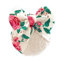 2019 cappello di berretto da maglia della neonata 2019 Estate Marca Baby Boy Girl Turbante Neonato Del Bambino Del Cotone Beanie Cappello Cap Big Archi Cappelli Morbido Caps Regali 0-12 M